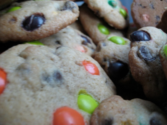 M&M choc chip cookies
